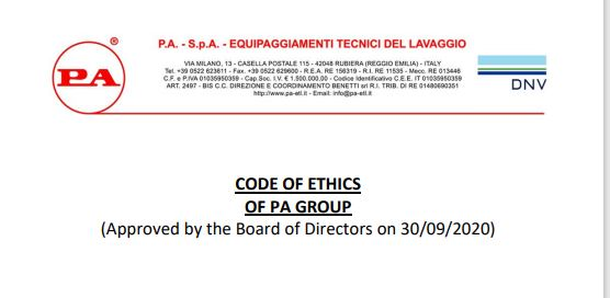PA Ethical code