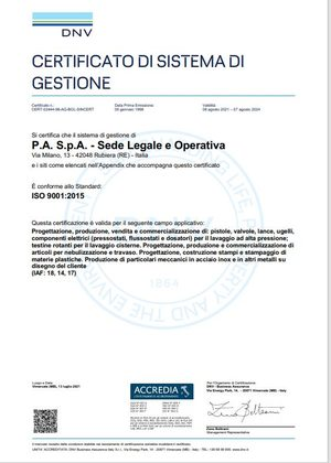 ISO 9001 - 2015 Certificate